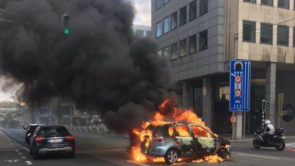Brandende wagen lijkt protest tegen Congolese president