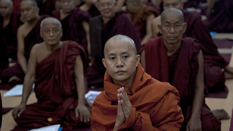 Boeddhistische monniken in Myanmar. Beeld AFP