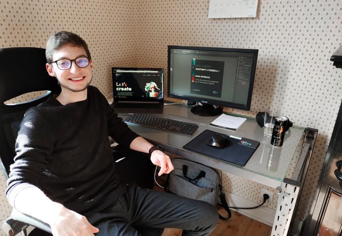 Adrien Sollami s'occupera, pendant un mois, de la communication de cinq restaurants.
