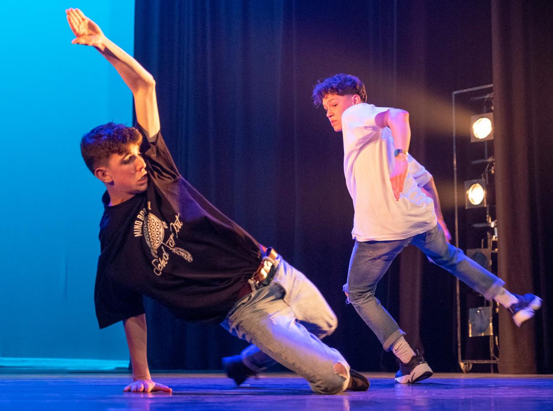 Rowan van den Boomen en Tommy Heeffer wonnen de eerste prijs in de categorie 'dans'.