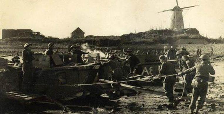 De mobile expo vertelt het verhaal van Operation Switchback, een deel van de Slag aan de Schelde aan het eind van de Tweede Wereldoorlog.