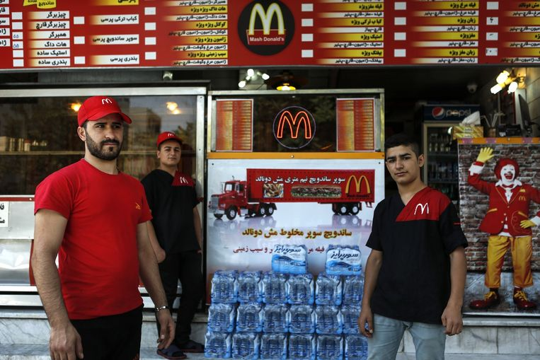 'Mash Donald's' in Teheran. Beeld Newsha Tavakolian