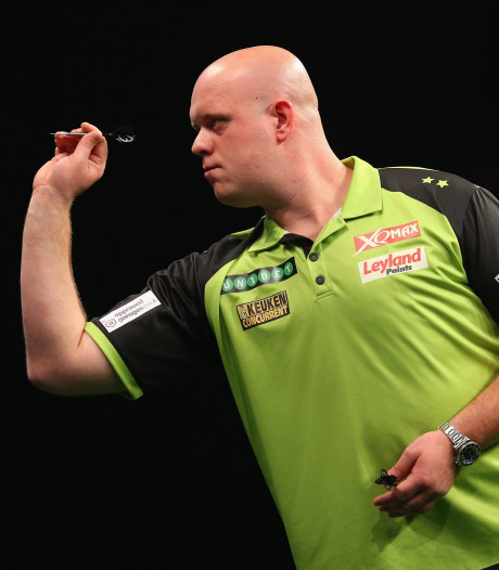 Van Gerwen onderuit in groepsfase Grand Slam of Darts