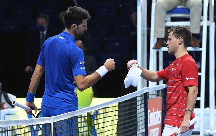 Novak Djokovic en Diego Schwartzman.