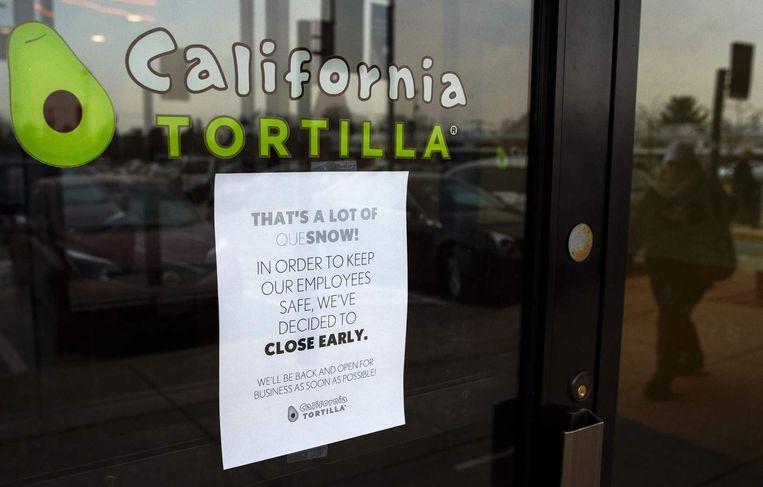 Dit restaurant sluit uit voorzorg zijn deuren. Beeld afp