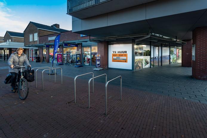Leegstand in het winkelcentrum van Swifterbant
