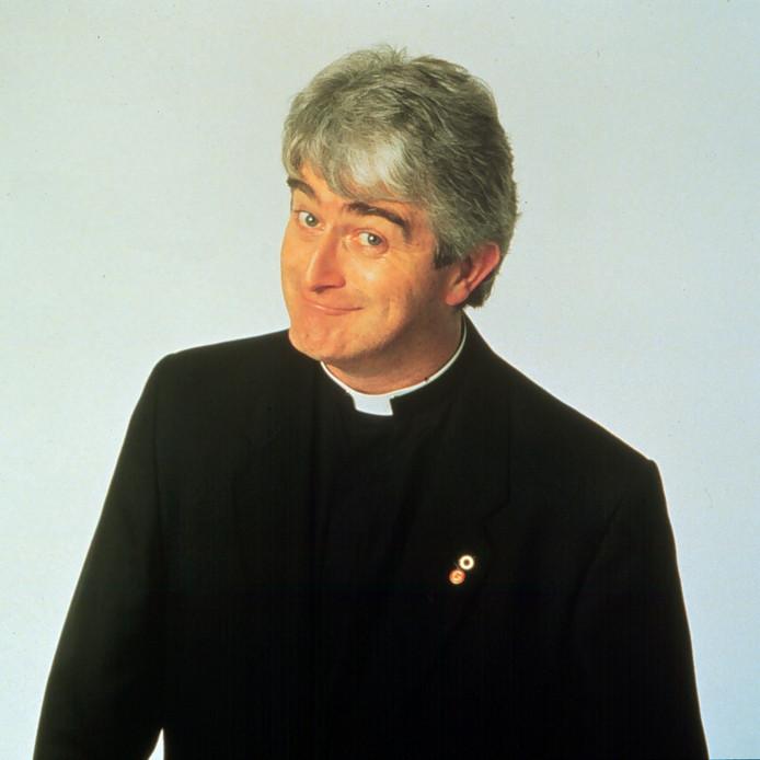 Wijlen Dermot Morgan in Father Ted.