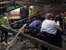 Trein ramt op volle snelheid station bij New York
