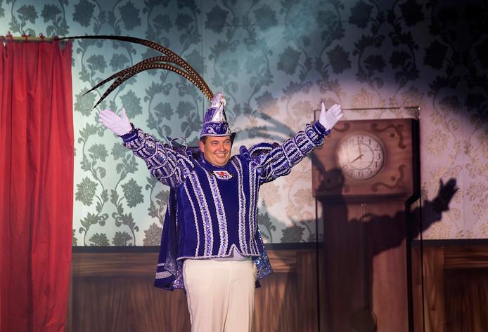 Bert te Brake, de nieuwe prins van carnavalsvereniging d'Olde Waskupen.