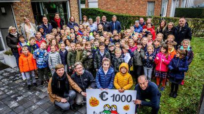 1.000 euro voor vzw Rozemarijn dankzij leerlingen Doornstraat