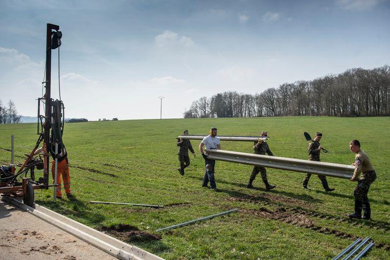 Het leger van het Groothertogdom is goed in teamwork, bewijst deze foto.
