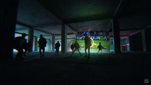 Screenshot uit de 'reveal trailer' van Fifa 20.
