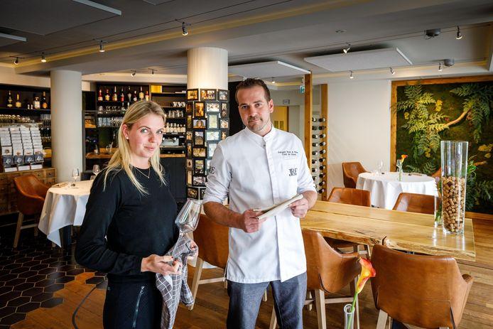 Corine Vink en Chiel de Groot van restaurant Amused balen van de inbraak.