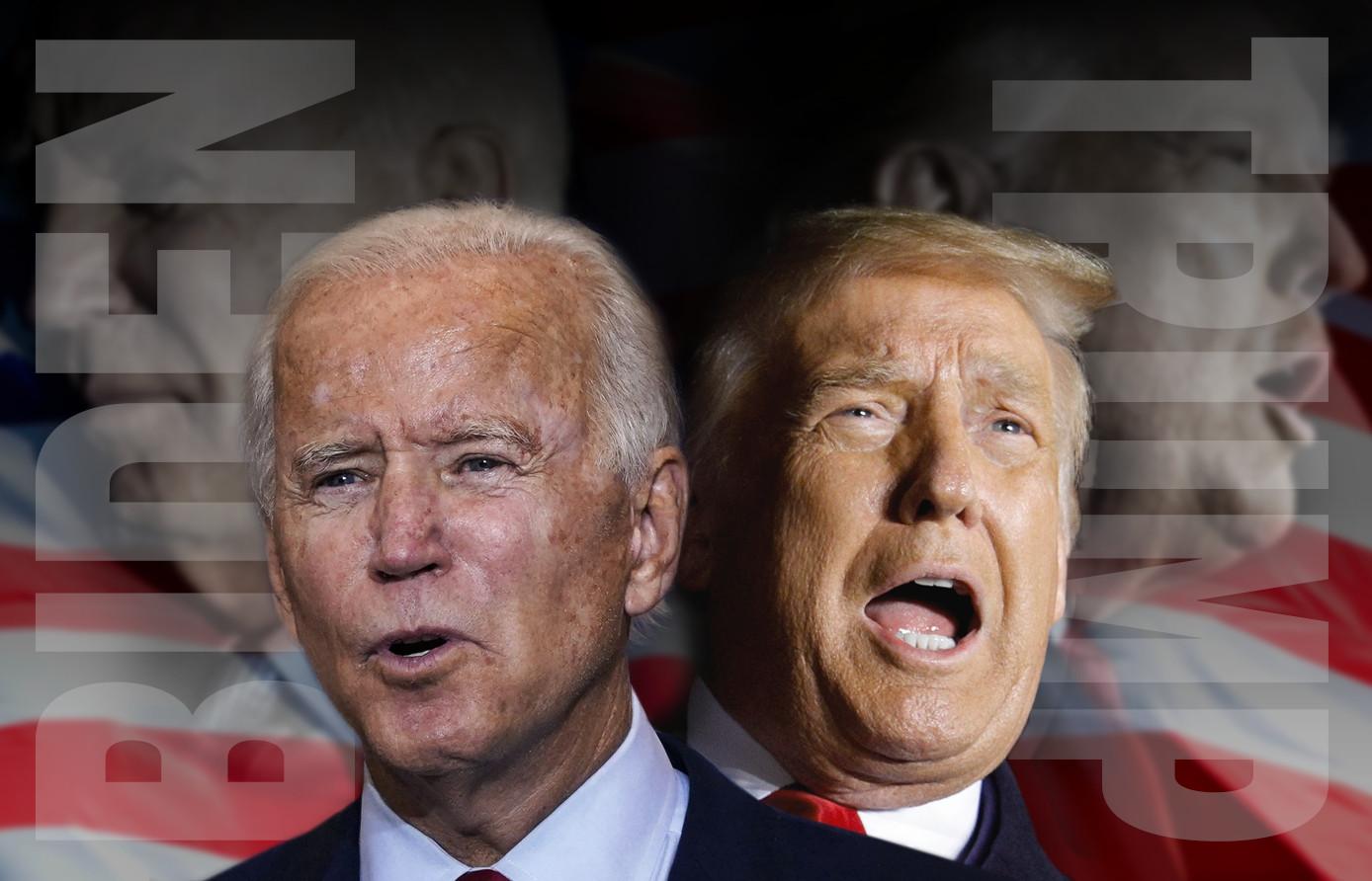 Joe Biden en Donald Trump.