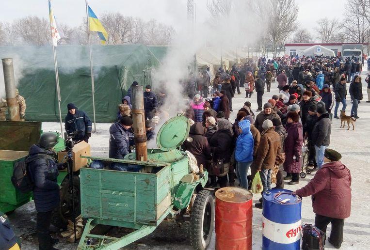 Voedselbedeling in Oekraïne. (archiefbeeld 1 februari 2017)