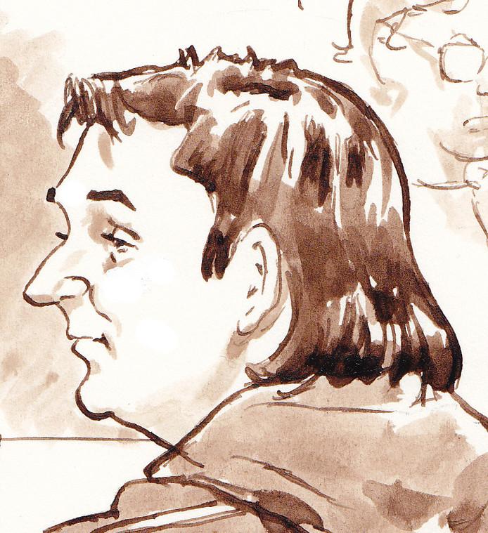 Robert M. tijdens de eerste dag van de inhoudelijke behandeling van de Amsterdamse zedenzaak bij de rechtbank in Amsterdam, op 12 maart.