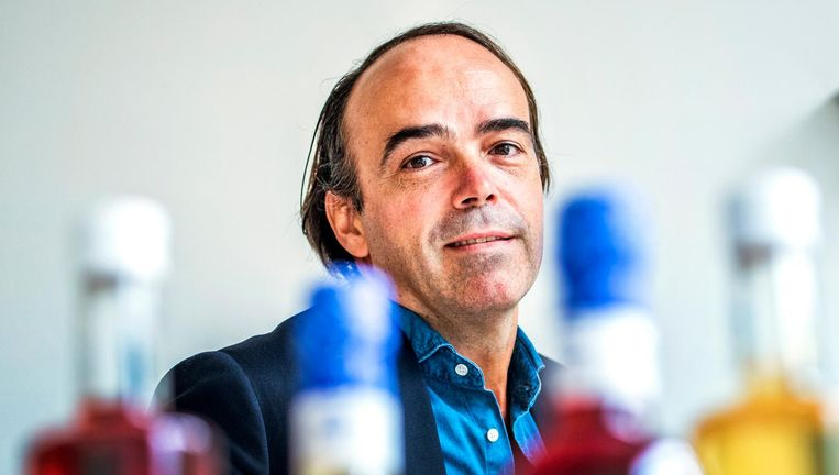 Ondernemer Jochem Schouten: 'Ranja is simpel. Het bevat slechts vijf ingrediënten.' Beeld Raymond Rutting / de Volkskrant