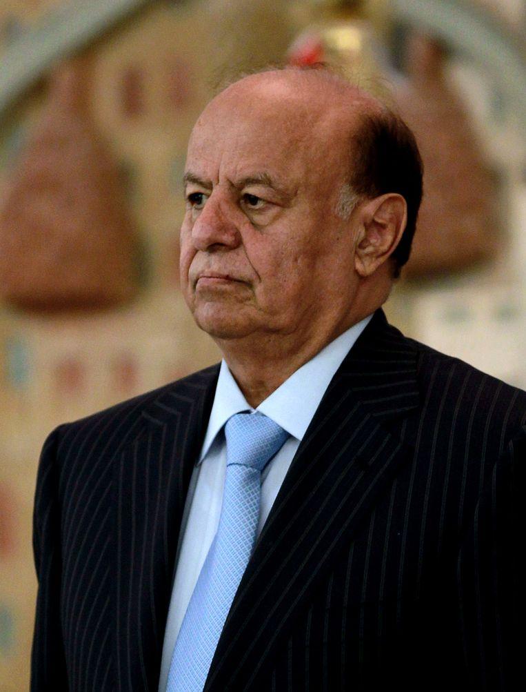 President Abd-Rabbu Mansour Hadi. Beeld AFP