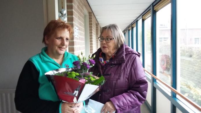 Laura de Bilde (l) uit Dreischor en Wil van Roon.