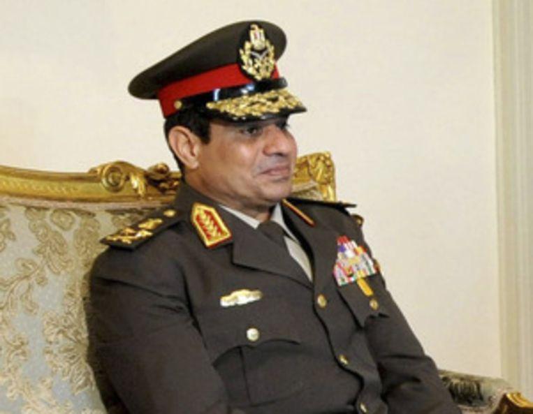 Legerleider Abdel-Fattah el-Sissi. Beeld null