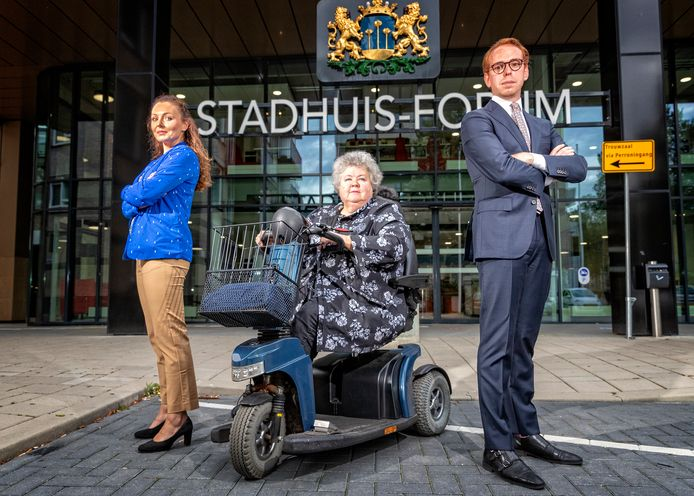 Het actiecomité van de Zoetermeerse gemeenteraad: Vivianne van Yperen, Marijke van der Meer en David Weekenstroo.