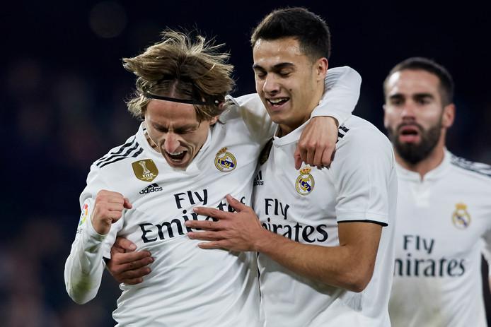Luka Modric viert zijn treffer.