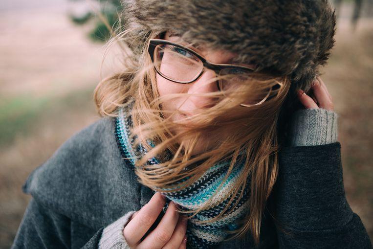 Het lichaam moet wennen aan de koude temperaturen. Pak je dus gerust warm in.