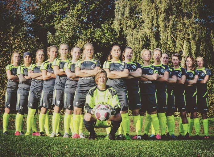 BSC Dames 1, kampioen in de tweede klasse KNVB vrouwenvoetbal in 2016.