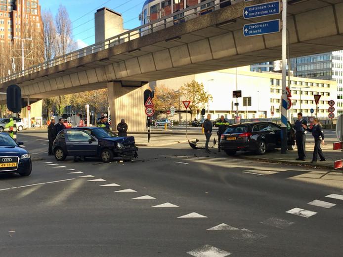 Niemand raakte bij het ongeluk gewond.