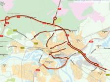 Aansluiten in de file in Arnhem: voor de vierde dag op rij staat verkeer muurvast