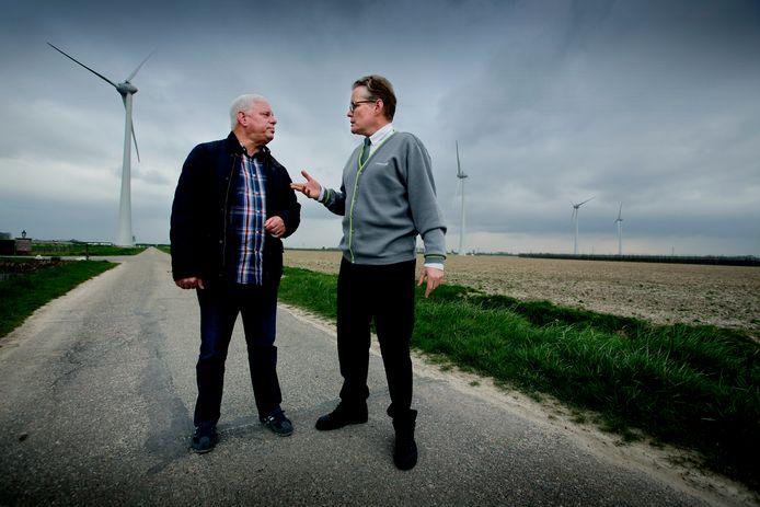 Bewoners van Piershil hebben last van geluid nieuwe windmolens. (RD/HW) FOTO: © VICTOR VAN BREUKELEN
