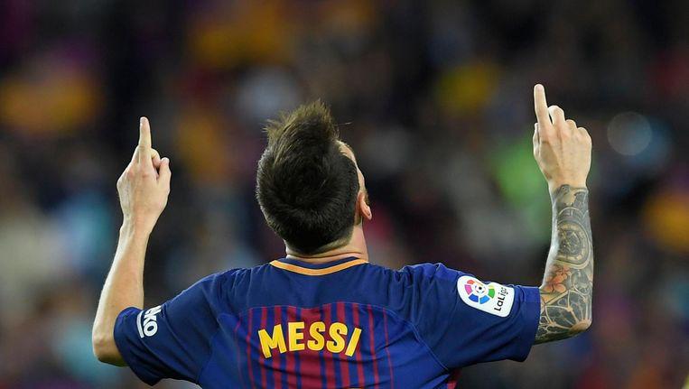 Lionel Messi. Tekende vanavond voor twee goals, bereidde er een voor. Beeld anp
