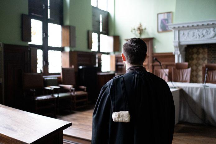 MECHELEN - Een advocaat in de correctionele zittingszaal van de rechtbank in Mechelen.