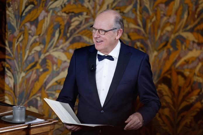 Philip Freriks leest het Groot Dictee der Nederlandse Taal voor. archieffoto ANP Kippa/ Bas Czerwinski