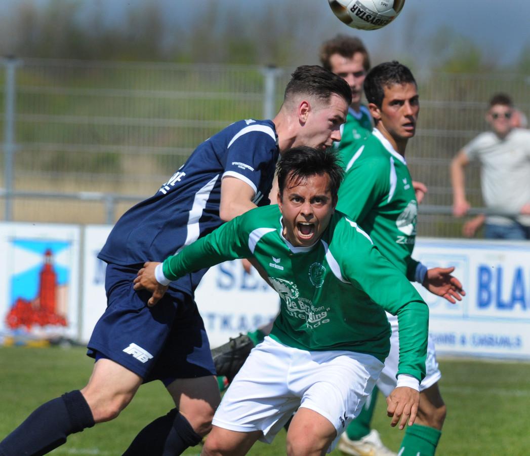 De Meeuwen (groene shirts) won zaterdag alle wedstrijden op het BSC-toernooi.