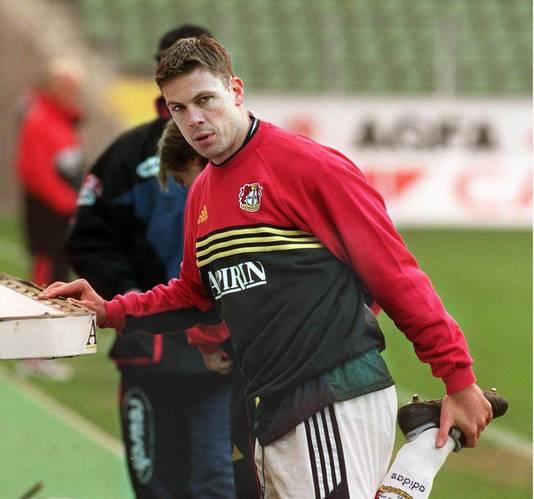 Erik Meijer in dienst van  Bayer Leverkusen in 1999