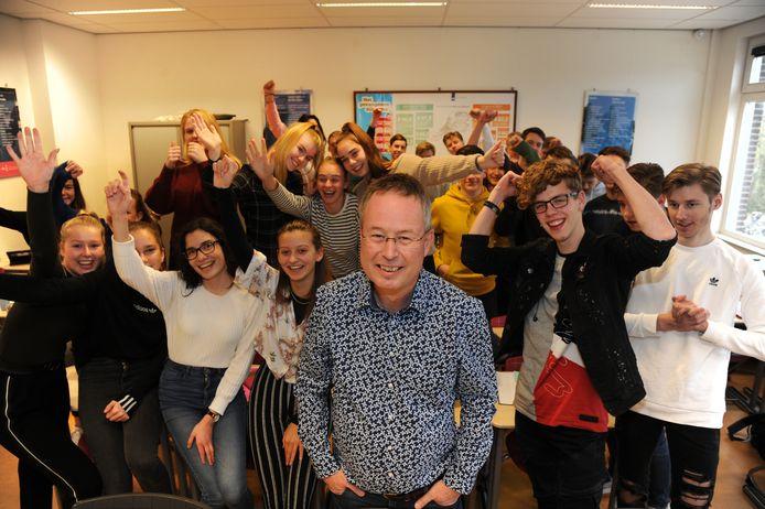 Economiedocent Arjen Baart van de CSW in Middelburg.