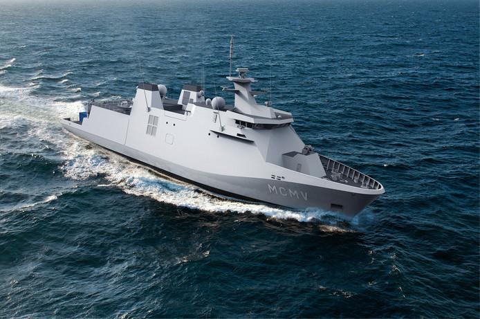 Het ontwerp van Damen voor de nieuwe mijnenbestrijdingsvaartuigen van de Nederlandse en Belgische marine