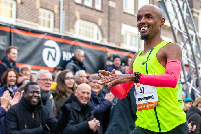 Mohamed Ali tijdens de Zevenheuvelenloop in Nijmegen.