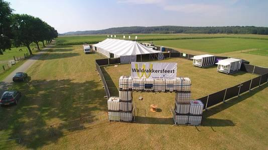 Het evenemententerrrein van de Waldrakkers aan de rand van Ottersum.
