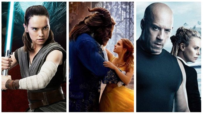'Star Wars: The Last Jedi', 'Beauty and the Beast', 'The Fate of the Furious'