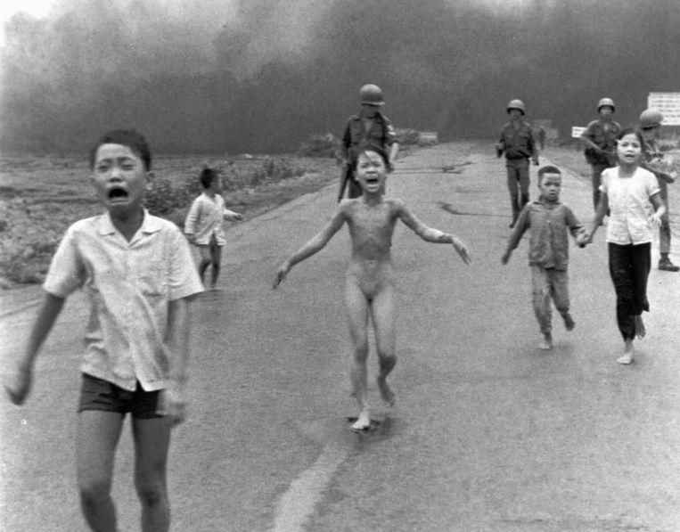 Phan Thi Kim Phuc, Vietnam, 1972 Beeld Nick Ut
