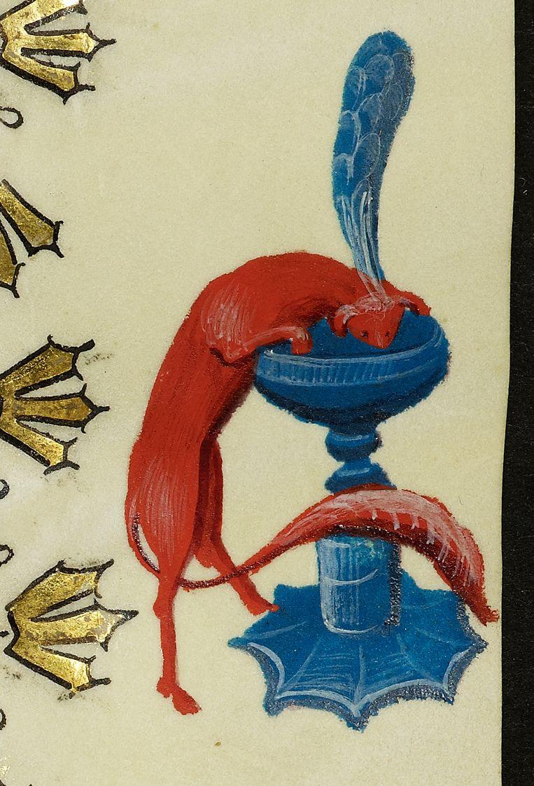Rare wezentjes uit de marge van het getijdenboek van Maria van Gelre Beeld Staatsbibliothek zu Berlin