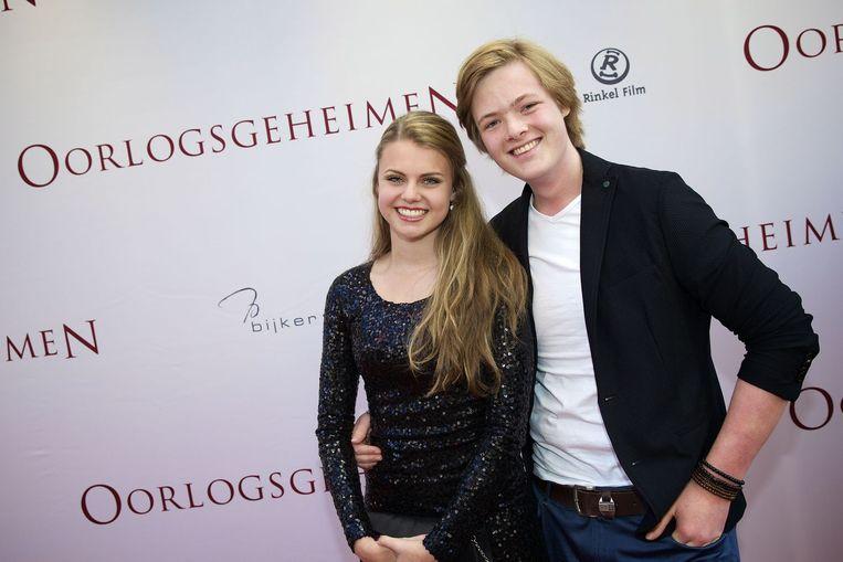 Stefan Collier en vriendin Britt Scholte Beeld anp