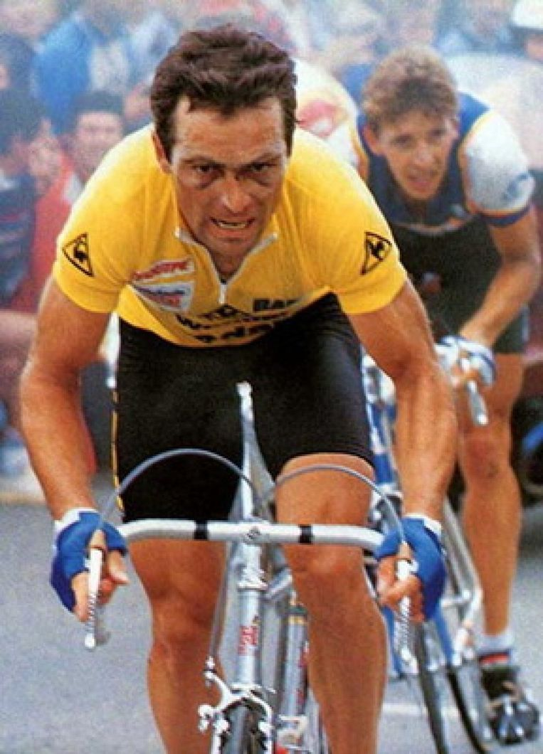 Bernard Hinault won de Tour vijf keer. Beeld
