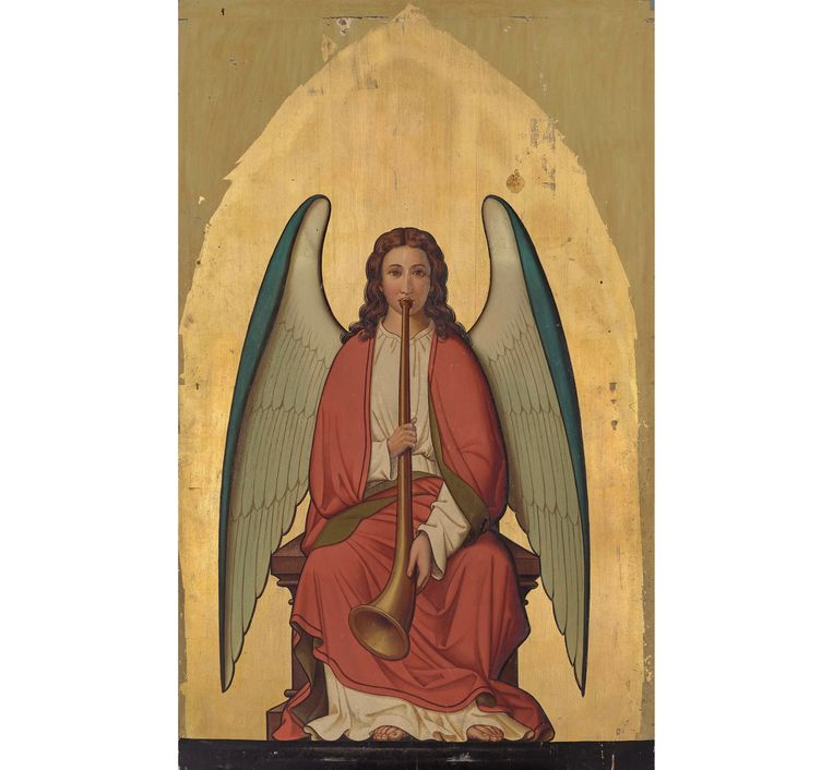 Musicerende engel van het orgel, Atelier Pierre Cuypers, 1883 Beeld Stichting Bisschoppelijk Museum