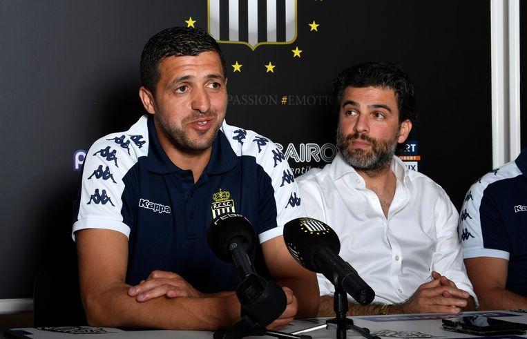 Trainer Karim Belhocine en gedelegeerd bestuurder Mehdi Bayat.