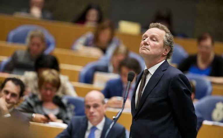 GroenLinks-leider Bram van Ojik in de Tweede Kamer. Beeld anp
