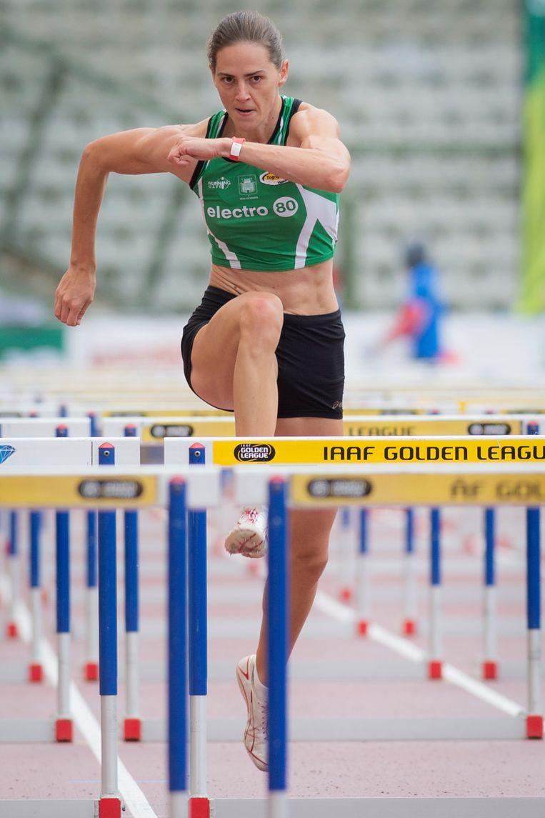 Sara Aerts in haar vorige sportleven als atlete.