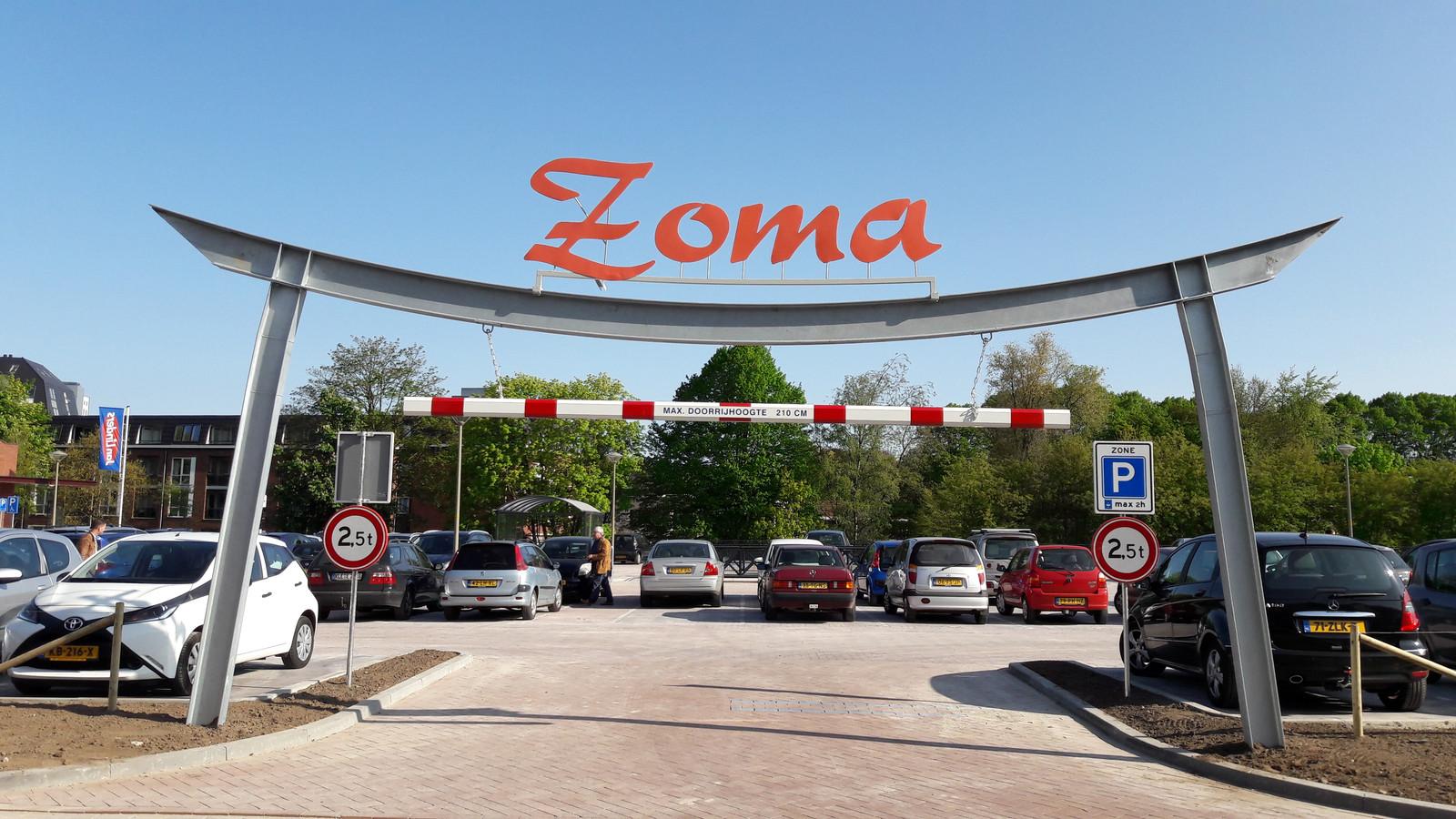 Het nieuwe parkeerterrein aan de Spoorlaan in Groesbeek